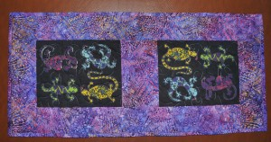 Batik Gecko Table Runner